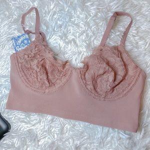 new Free People lace longline bra
